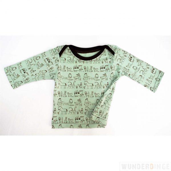 Langarmshirt mint (wunderdinge)