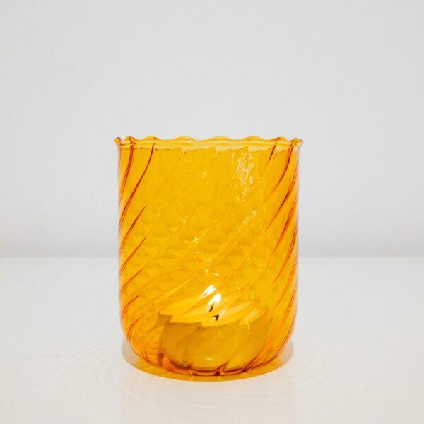 """Windlicht aus Glas von """"Orion Qubo"""""""