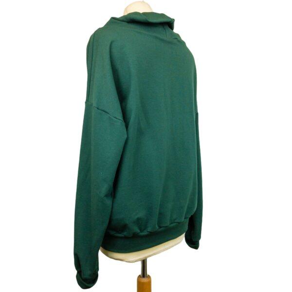 """Oversized Sweatshirt """"Darkest Green"""" von wunderdinge"""