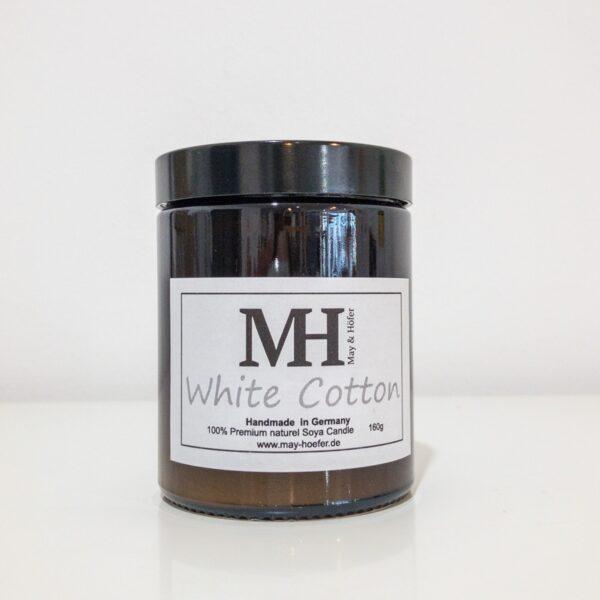 """Duftkerze """"White Cotton"""" aus Sojawachs"""